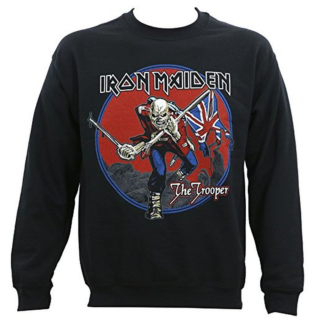 89d6d4d5 Details about Iron Maiden Trooper Red Sky Crewneck Sweatshirt All Sizes New