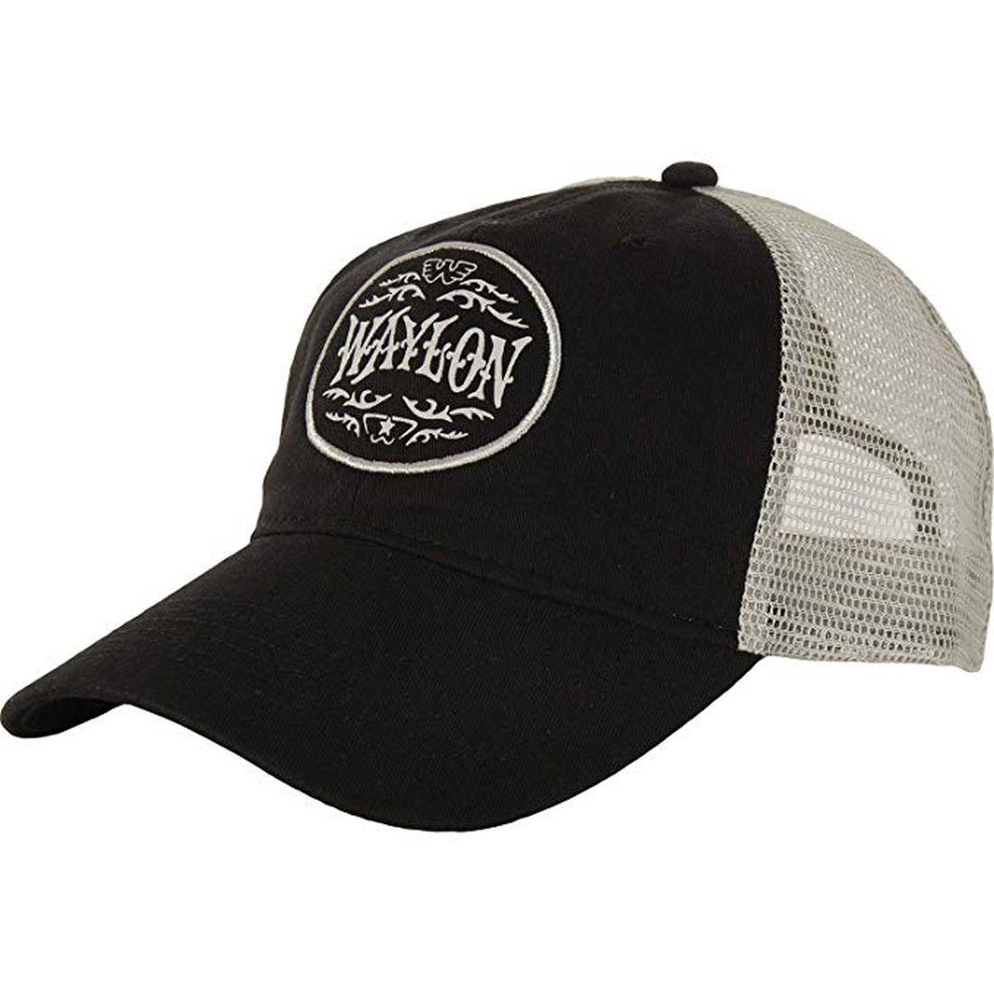 403e3ad0659 Waylon Jennings Circle Patch Trucker Hat New 665752583449